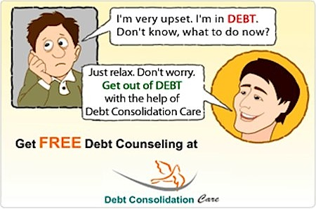Free debt counseling with DebtConsolidationCare
