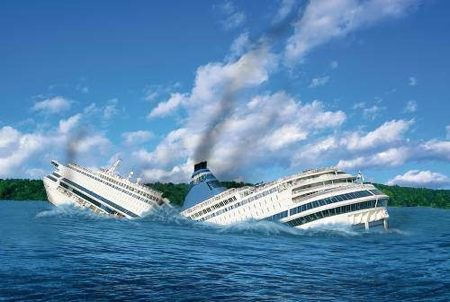 failing business, business success, sinking ship