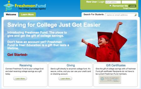 Freshman Fund, 529 account registry