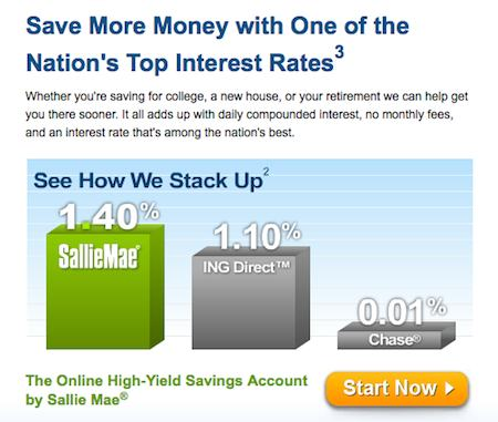 sallie mae high yield savings account