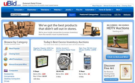 shop at online auction sites for savings and profit