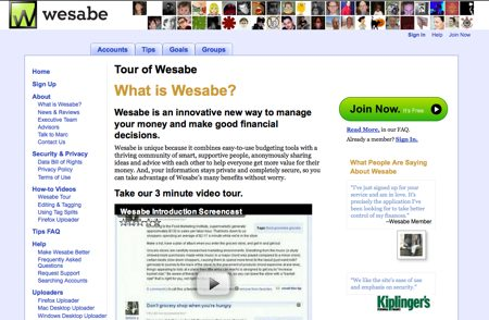 wesabe review, free online personal finance tool, money management tool